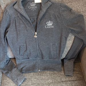 GUESS zip up sweatshirt